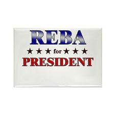 REBA for president Rectangle Magnet