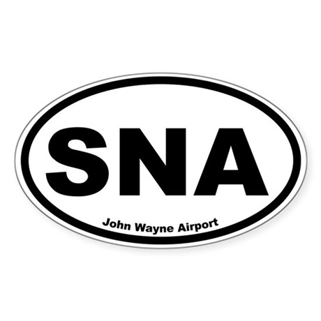 John Wayne Airport Oval Sticker