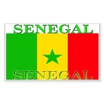 Senegal Senegalese Flag Rectangle Sticker