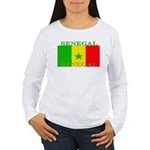 Senegal Senegalese Flag Women's Long Sleeve T-Shir