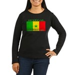 Senegal Senegalese Flag Women's Long Sleeve Dark T