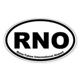 Reno-Tahoe International Airport Oval Decal