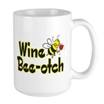 Wine Bee-Otch Large Mug
