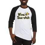 Wine Bee-Otch Baseball Jersey