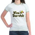 Wine Bee-Otch Jr. Ringer T-Shirt