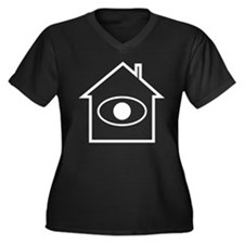 Neighborhood Watch Women's Plus Size V-Neck Dark T