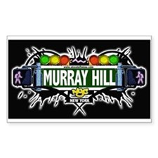 Murray Hill (Black) Rectangle Decal
