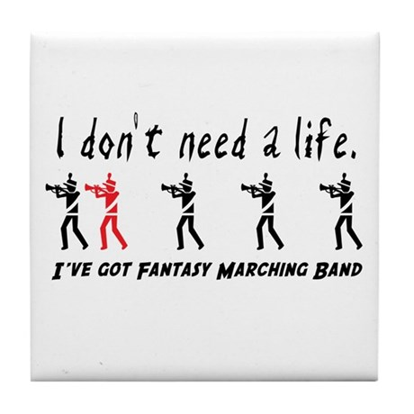 Fantasy Marching Band Tile Coaster