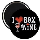 "I Heart Box Wine 2.25"" Magnet (10 pack)"