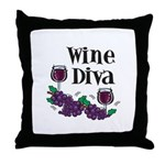 Wine Diva Throw Pillow