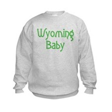 Wyoming Baby (green) Sweatshirt