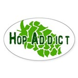 Hop Addict Oval Decal