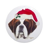 St. Bernard Christmas Ornament (Round)