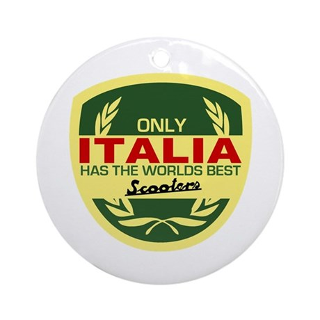Italia Scooter Ornament (Round)