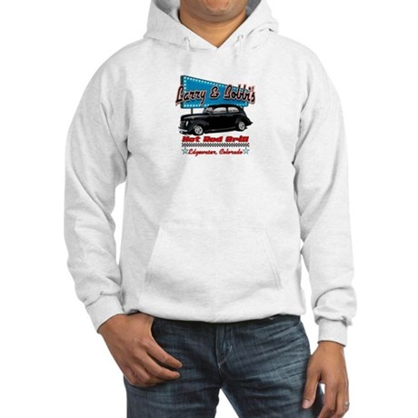 Larry and Bobbi's Hot Rod Gri Hooded Sweatshirt