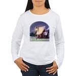 Snowy Cabin Women's Long Sleeve T-Shirt