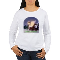 Snowy Cabin Women's Long Sleeve T-Shirt
