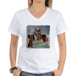 Mr 'N Mrs Claus Women's V-Neck T-Shirt