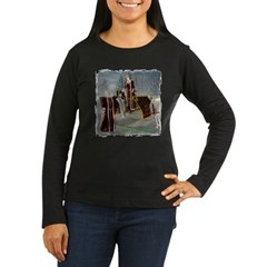 Mr 'N Mrs Claus Women's Long Sleeve Dark T-Shirt