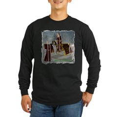 Mr 'N Mrs Claus Long Sleeve Dark T-Shirt