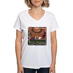 Christmas Morning Women's V-Neck T-Shirt