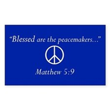"""Blessed are the peacemakers..."" Blue Decal"