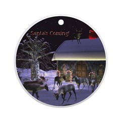 Santa's Coming! Ornament (Round)