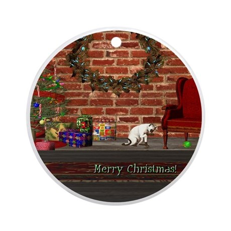 Christmas Morning Ornament (Round)