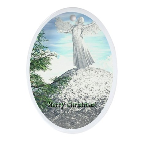 Angel Watch Oval Ornament
