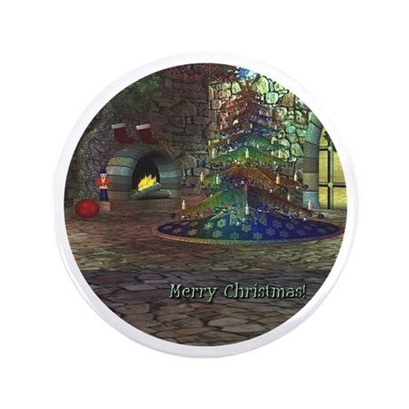 "I Love Christmas 3.5"" Button"