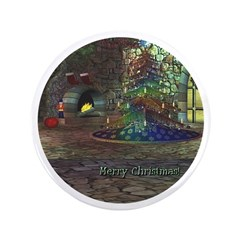 I Love Christmas 3.5&quot; Button