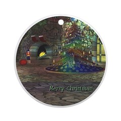 I Love Christmas Ornament (Round)