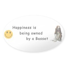 Happiness is.. Oval Sticker - Tri-color on white
