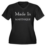 Made In Martinique Women's Plus Size V-Neck Dark T