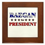 RAEGAN for president Framed Tile