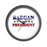 RAEGAN for president Wall Clock