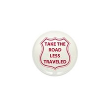 Less Traveled Mini Button (100 pack)