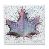 Burgundy Leaf Tile Coaster