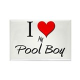 I Love My Pool Boy Rectangle Magnet (10 pack)