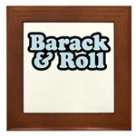 Barack & Roll Framed Tile