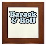Barack & Roll Framed Tile