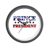 PRINCE for president Wall Clock