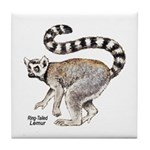 Ring-Tailed Lemur Tile Coaster