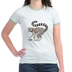 Ring-Tailed Lemur (Front) Jr. Ringer T-Shirt