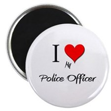 I Love My Police Officer Magnet