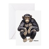 Chimpanzee Monkey Ape Greeting Cards (Pk of 10