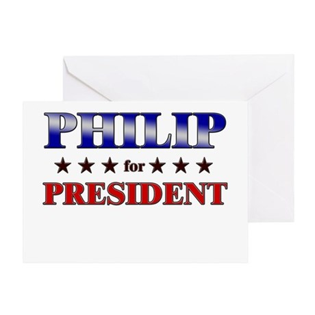PHILIP for president Greeting Card