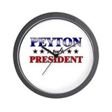 PEYTON for president Wall Clock
