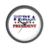 PERLA for president Wall Clock