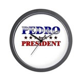 PEDRO for president Wall Clock